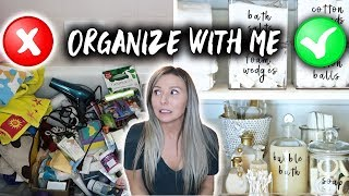 BATHROOM ORGANIZATION! **AMAZING TRANSFORMATION**