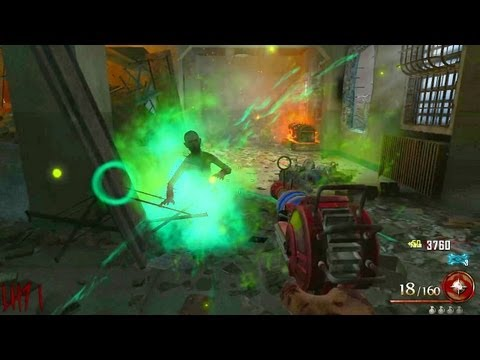 Mob of the Dead Zombies Gameplay LIVE Part 1 (Black Ops 2 Uprising DLC Map Pack)