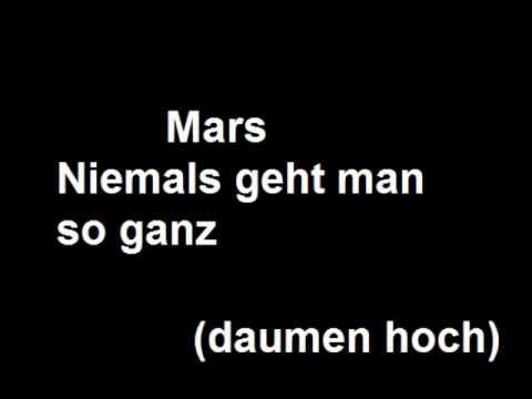 Mars niemals geht man so ganz
