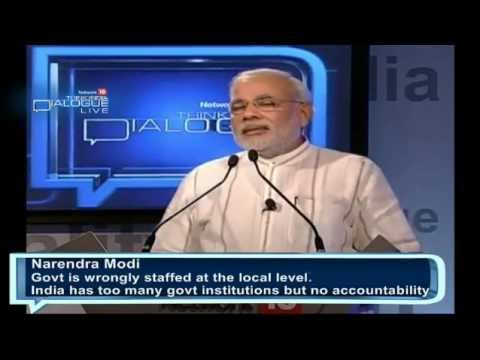 Shri Narendra Modi addressing Network 18 Think India Dialogue CM Speech
