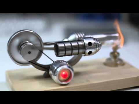SunnyTech Stirling Engine M14-03-S with LED Generator Demonstration / Review