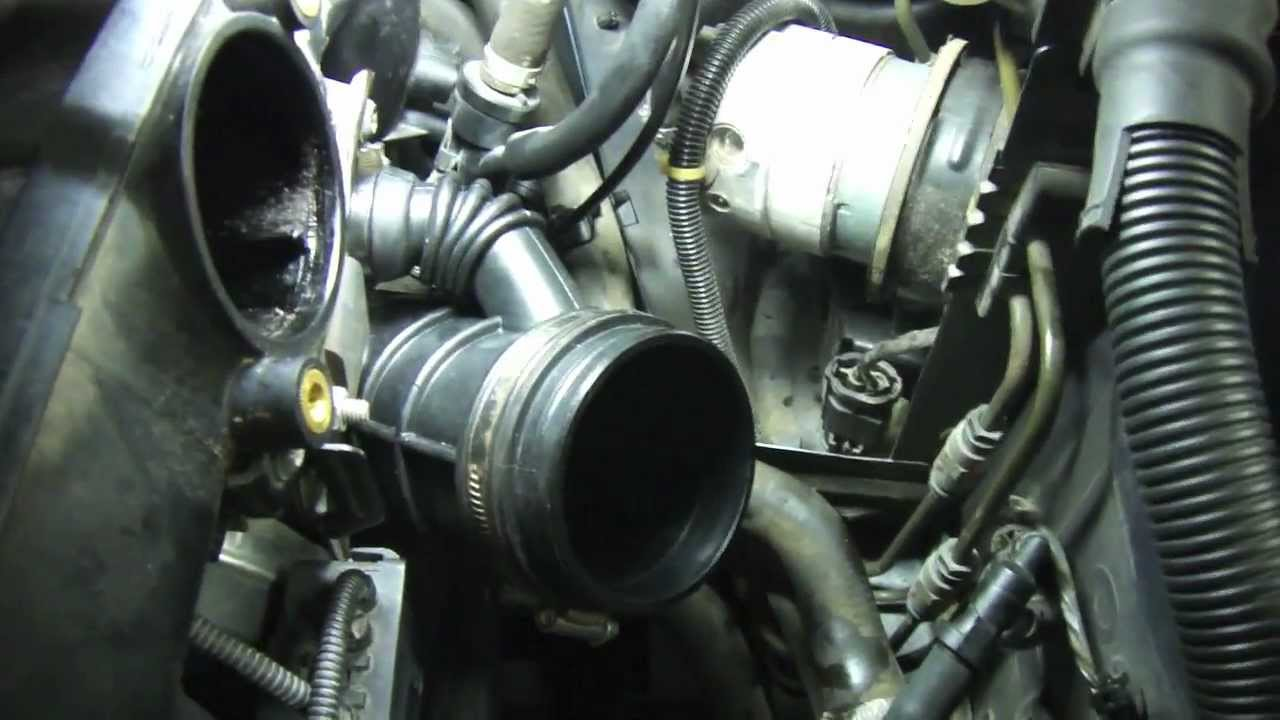 Diy How To Replace A Bmw Lower Intake Boot Youtube