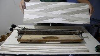 Как маленьким плиткорезом отрезать большую плитку
