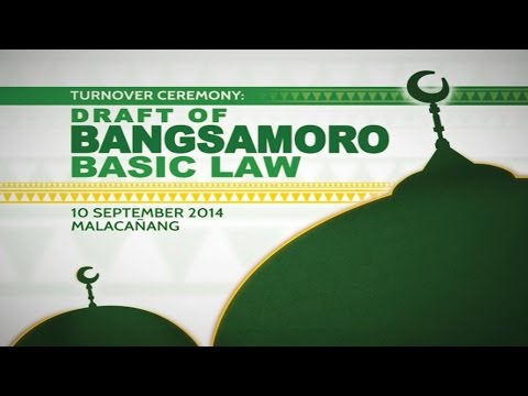 Turnover Ceremony: Draft of Bangsamoro Basic Law 9/10/2014