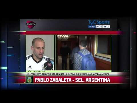 Pablo Zabaleta, sobre su presente en la Selección:
