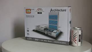 Mở hộp Loz 1014  Lego Architecture 21018 The United Nations Headquarters giá sốc rẻ nhất