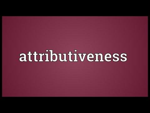 Header of attributiveness