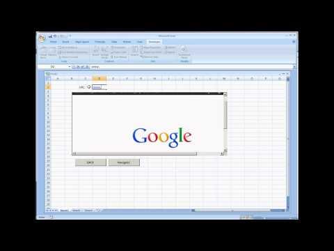 Web Browser Control in Microsoft Excel 2007 VBA