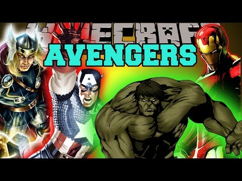 Minecraft: THE AVENGERS (THE HULK, THOR, IRON MAN, & CAPTAIN AMERICA!) Mod Showcase
