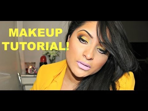 GLITTERY GOLDEN BARBIE Makeup tutorial!