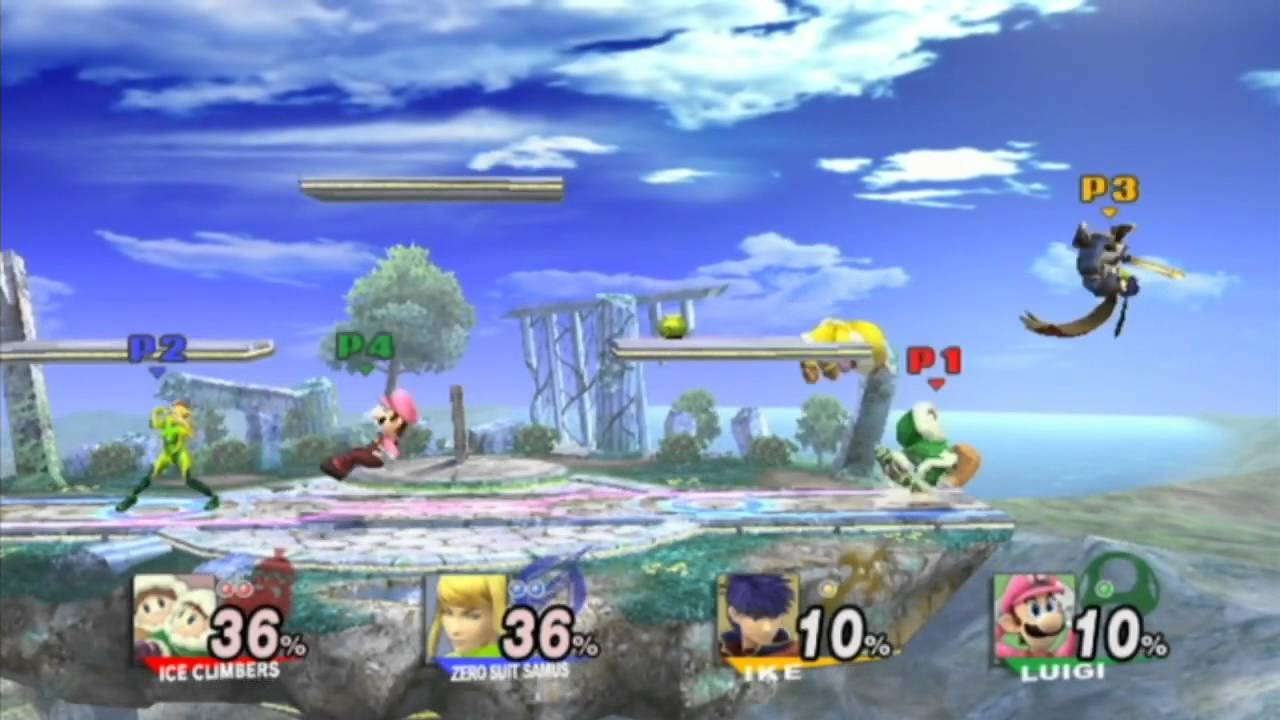 Super Smash Brothers Brawl 4 Player Random Battle On