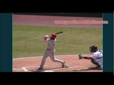 Jimmy Rollins Slow Motion Baseball Swing - Hitting Mechanics Instruction Philadelphia Phillies