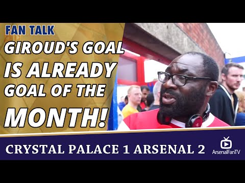 Giroud's Goal Is Already Goal Of The Month!  | Crystal Palace 1 Arsenal 2