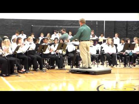 "North Augusta Middle School 8th Grade Band:  ""Sleigh Ride"""