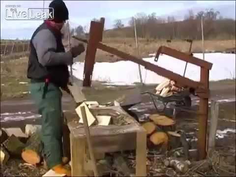 Как сделать станок по колке дров своими руками
