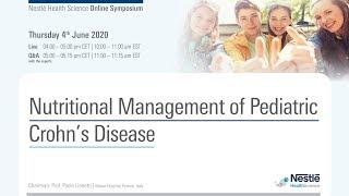Online Symposium: Nutritional Management of Pediatric Crohn's disease