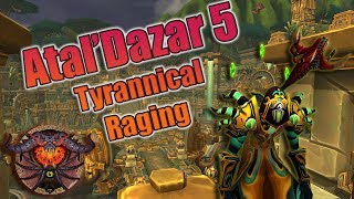 Battle for Azeroth - MYTHIC + Atal'Dazar 5! Destruction Warlock 2 chest run with Logs!