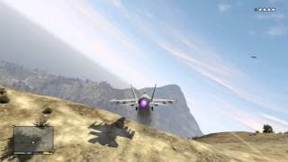 GTA V: How to break into the Military Base and Escape with a Jet (GTA 5 Tutorial)