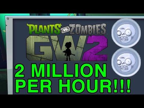 PvZ GW2 Coin Glitch - 2 Million Per Hour! Fish Chest Coins Plants vs Zombies Garden Warfare 2