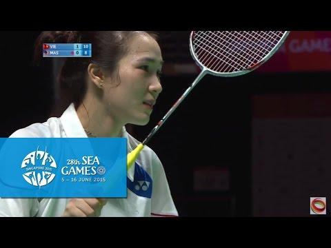 Badminton Women's Team Vietnam vs Malaysia Match 1 (Day 5) | 28th SEA Games Singapore 2015