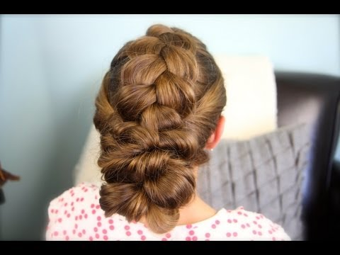 Pancake Braid with Double Twists | Updo Hairstyles