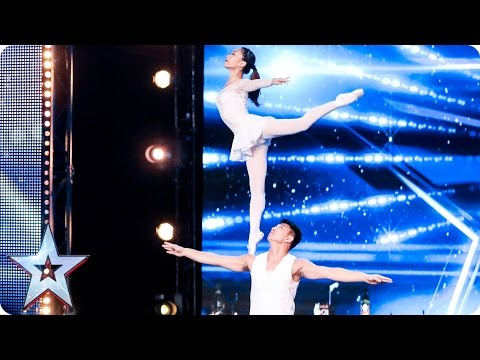 Gao Lin & Liu Xin stun with their elegant acrobatics   Auditions Week 2   Britain's Got Talent 2017