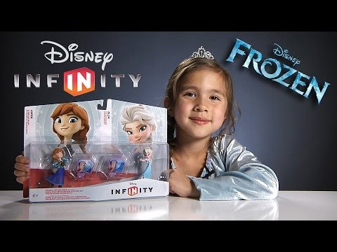 Disney Infinity FROZEN Toy Box Set - Elsa & Anna Figures, Texture Discs
