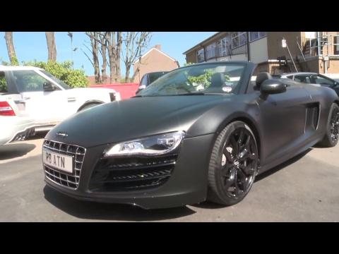 Aston Merrygold - Audi R8 strip and re-wrap - Part 1