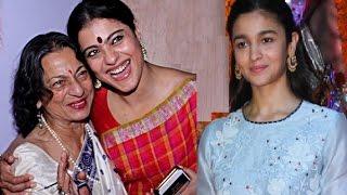 Alia Bhatt, Kajol & Family Visit Durga Puja Pandals in Juhu
