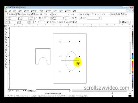 Corel Draw Tutorial   Trim Part 1