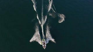 Wakeboarder Aerial Filming | Luftaufnahmen Wakeboarder Mit Drohne