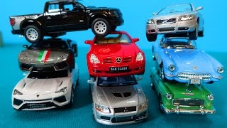 Unboxing cars in english. My toy car collection. Lamborgini Aventador, Nissan, Mercedes-Benz...