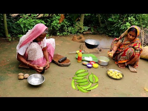 Bangali Kancha KOLAR KOFTA Recipe | Raw Banana Kofta Curry prepared by Grandmother- Village Food