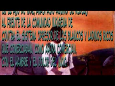 Anastacio Aquino ( Indigena Salvadoreño ) - canta Luis Lopez de El Salvador - .mp4