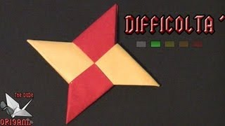 Dude's Daily Origami - Stella Ninja (shuriken - Tutorial In Italiano)