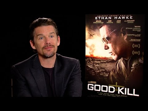 Ethan Hawke Talks GOOD KILL, Working At Burger King And More