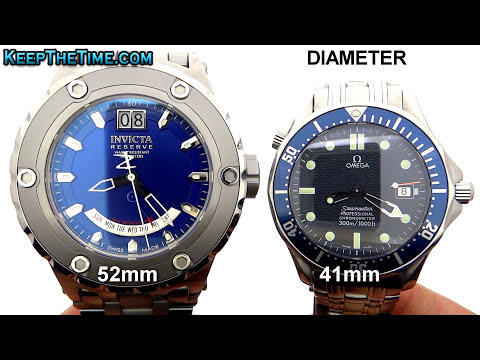 Invicta Reserve VS Omega Seamaster Size Comparison (KeepTheTime Quickie)