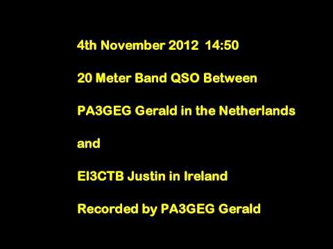 20m Band QSO between PA3GEG and EI3CTB