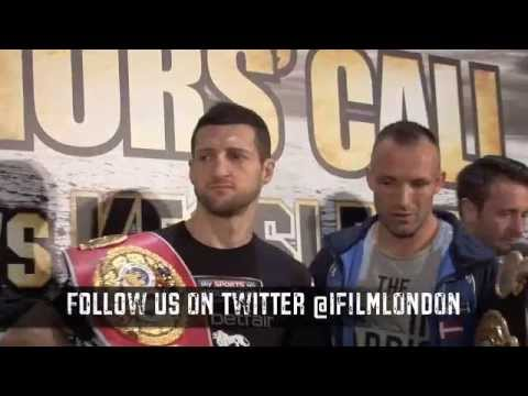 CARL FROCH vs MIKKEL KESSLER HEAD TO HEAD @ FINAL PRESS CONFERENCE / WARRIORS' CALL
