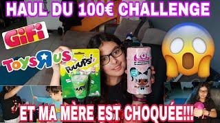 HAUL DU 100€ CHALLENGE: JE VOUS MONTRE TOUT ET MA MÈRE EST CHOQUÉE !!!