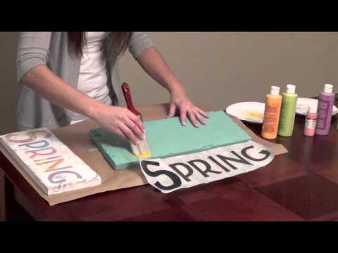 DIY Home Decor Distressed Painted Sign YouTube
