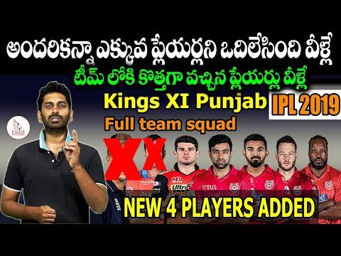 IPL 2019 || Kings XI Punjab || Released & Retained Players List || Eagle Media Works