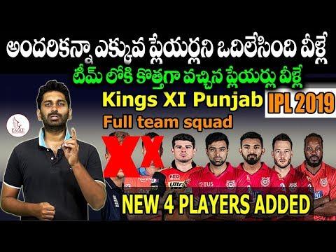 IPL 2019 || Kings XI Punjab || Released & Retained Players List || Eagle Media Works
