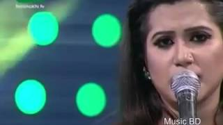 Meghla Akash Meghla Dine By Nancy Bangla Song Live Performance 2016 Low, 360p