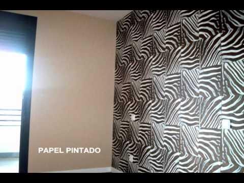 Muestras de trabajos de vinilos decorativos y papel pintado para el hogar youtube - Papel pintado vinilo ...