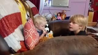 Grandchildren Taste Testing Frito Lays too cute lol