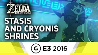 Stasis & Cryonis Shrines Gameplay - The Legend of Zelda: Breath of the Wild