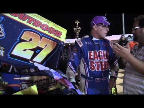 Port Royal Speedway All Star Sprint Car Victory Lane 9-06-14