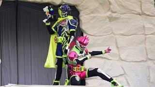 エグゼイドショー 【主題歌Exciteダンス演舞(スナイプ&エグゼイド)】@よみうりランド ☆ Kamen Rider Ex-Aid(仮面ライダーショー)