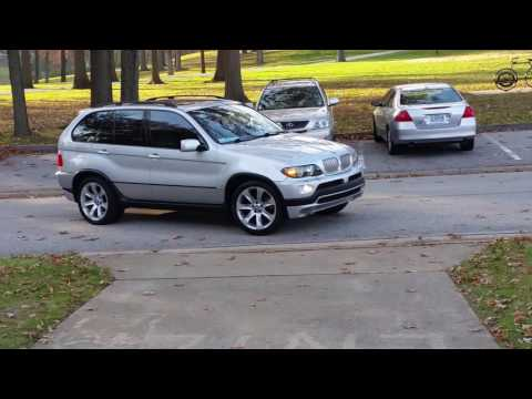 Bmw x5 4.8is loud Dinan exaust 4 wheel spin cruising around